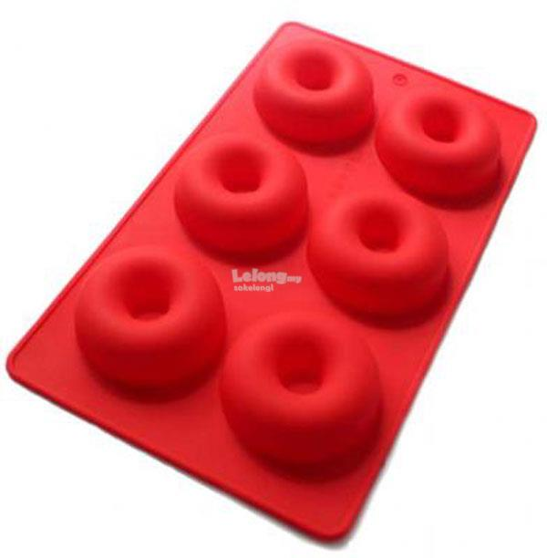 Silicone Donut Doughnut Mould 6-in-1