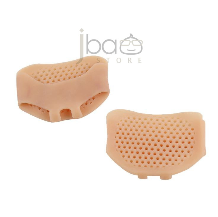 Silicone Gel Honeycomb Metatarsal Pad Toe Loop Forefoot Support (Nude)