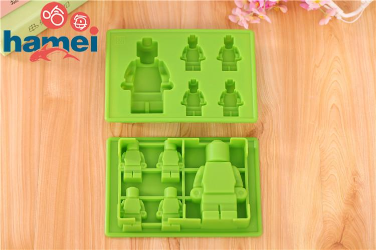 Silicone LEGO Man Ice Mold