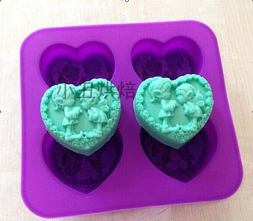 Silicone Love Shape Little Girl Baking/ Choc / Jelly / Soap Mold