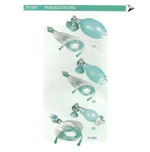 SILICONE RESUSCITATOR AMBU BAG CHILD