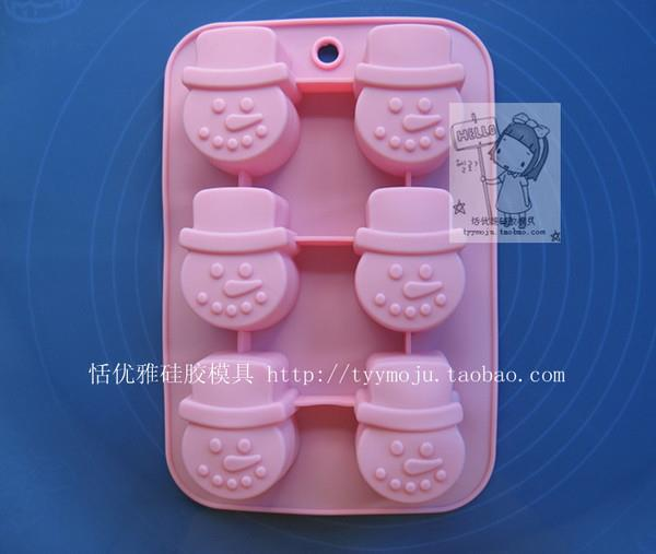 Silicone Snowman Design Baking /Choc/Jelly/Soap Mold