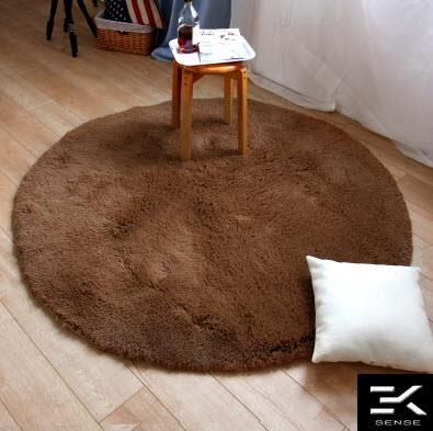 Silky European Round Carpet Bedroom Living Room Coffee Table Mat