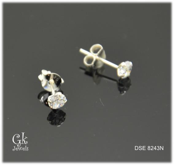 Silver Earring SE8243 (4mm)