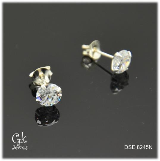 Silver Earring SE8245 (6mm)