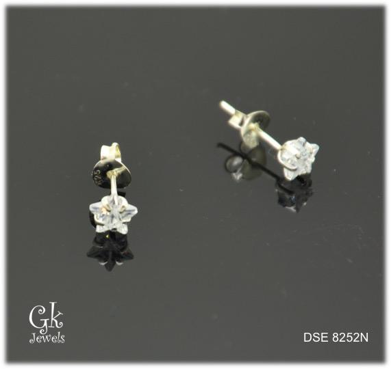 Silver Earring SE8252 (Star) (5mm)