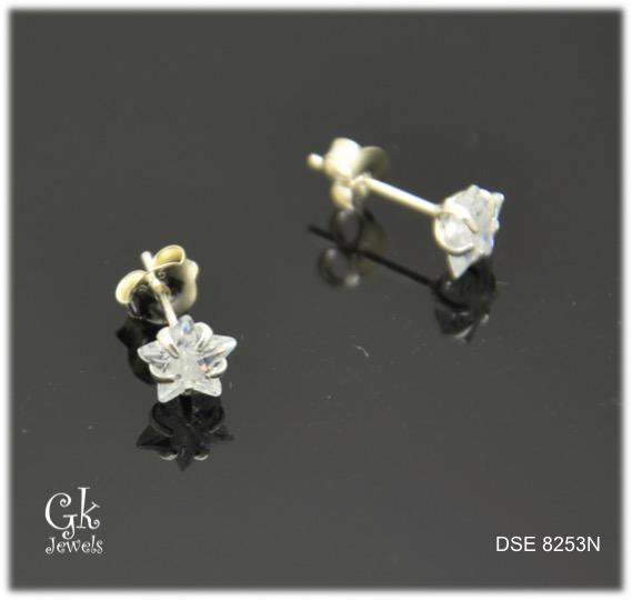 Silver Earring SE8253 (Star) (6mm)