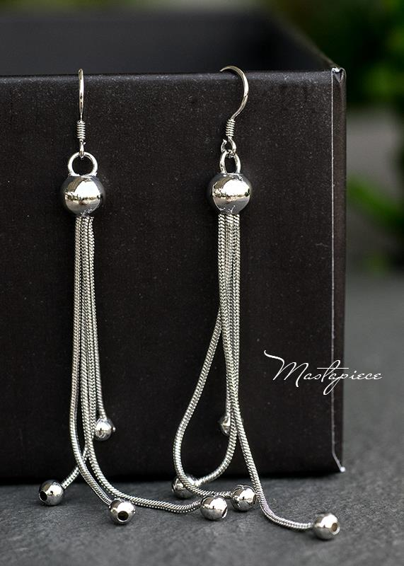 Silver Korea fashion drop earrings - Ball