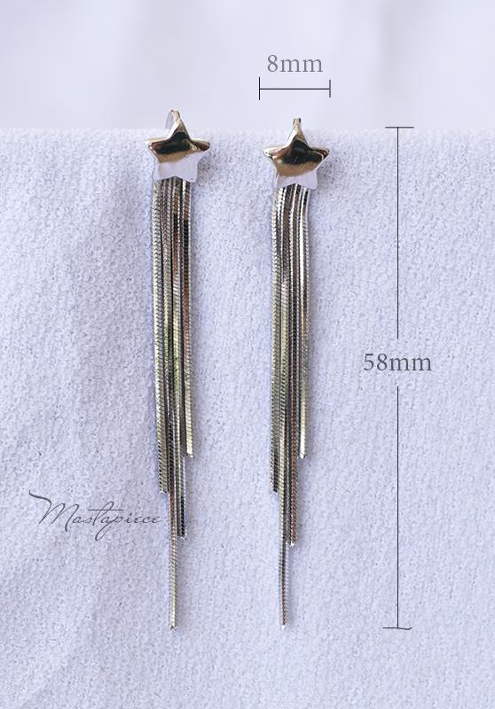 Silver Korea fashion drop earrings - star