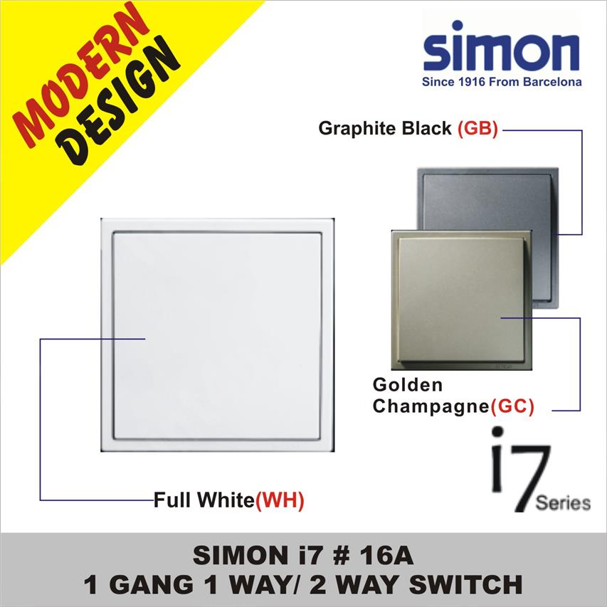 Image result for SIMON i7 Graphite Black 1 gang 1 way
