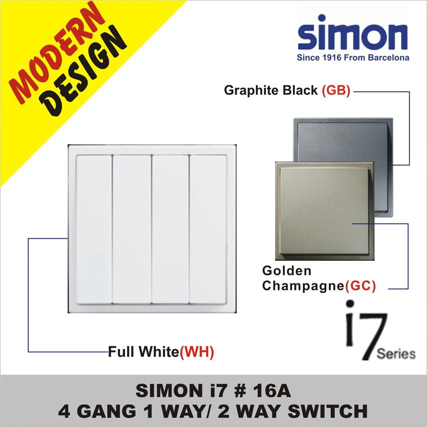 Image result for SIMON i7 Graphite Black 4GANG