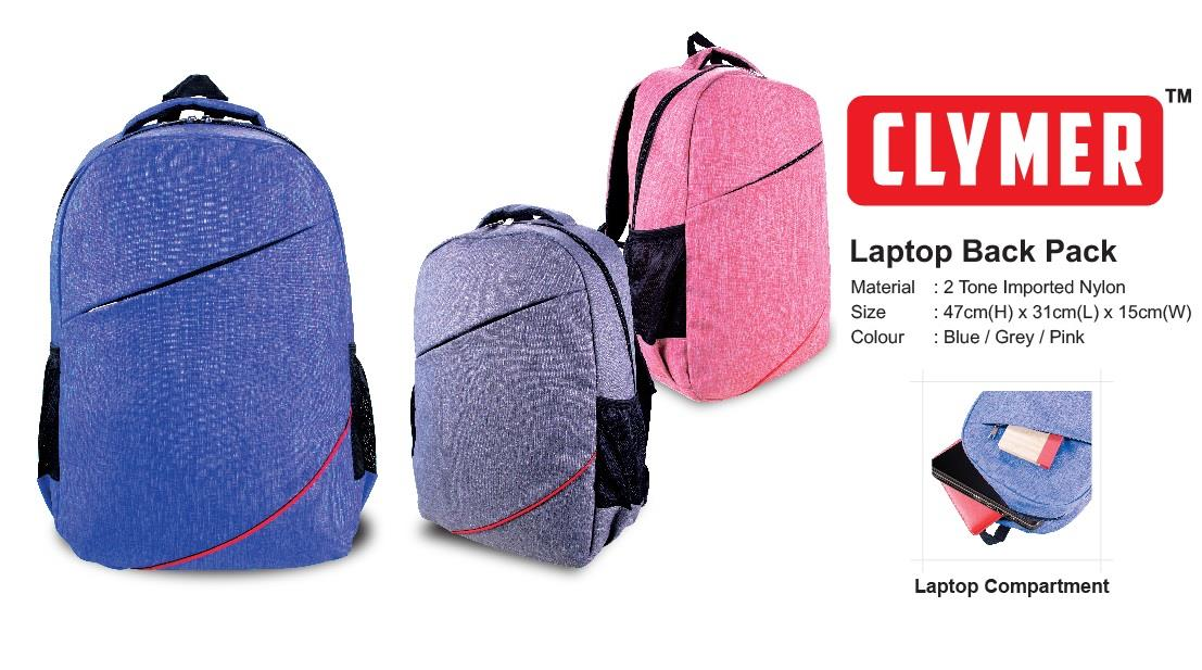 Simple 2 Tone Laptop Back Pack
