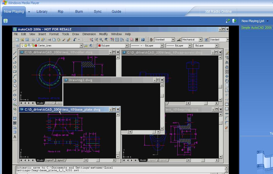 Drawing Smooth Lines In Autocad : Simple autocad tutorial in dv end pm