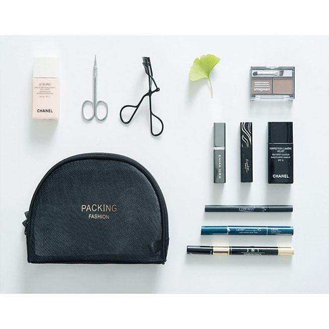 4fb12b238594 Simple Mesh Design Cosmetic Makeup Bag Storage Pouch B12409. ‹ ›