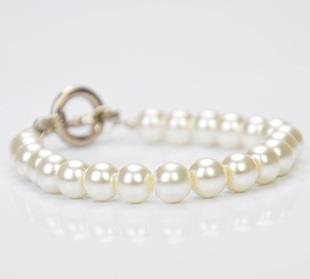 Simple Pearl Chain Bracelet