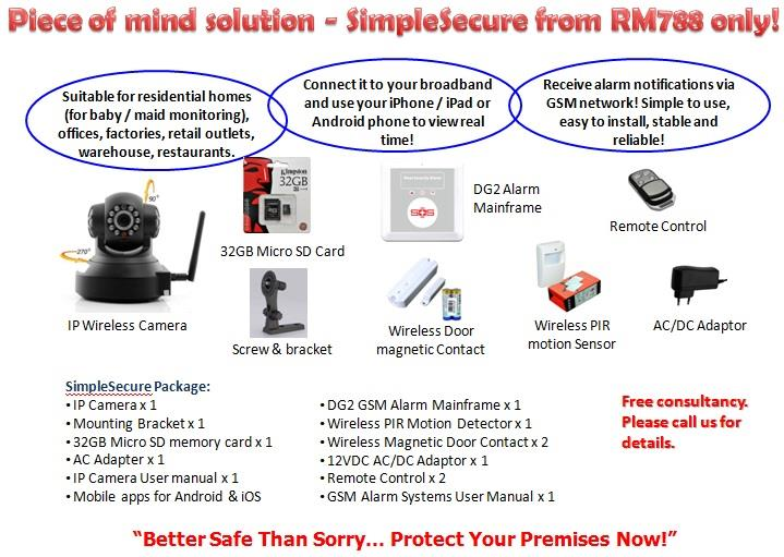 SimpleSecure Smart Home Security GSM Alarm and IP Camera Solutions