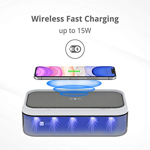 SIMPLIX UV Light Sanitizer Box Wireless Charger | UVC Sterilizer for Smartphon