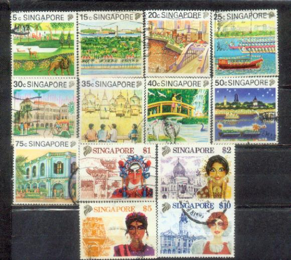 Singapore 1990 Tourism Definitive Complete up to $10