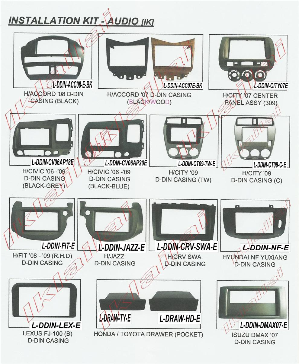 Single & Double Din Casing Panel or Head Unit Casing Dashboard Panel