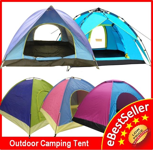 Single Double Layer Door Sleeping Camping Tent 2/3/4 Person FREE Bag