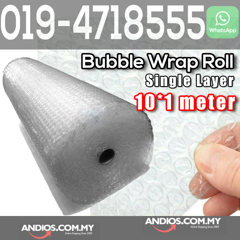 Single Layer Bubble Wrap Roll 10meter X 1meter Post Parcel