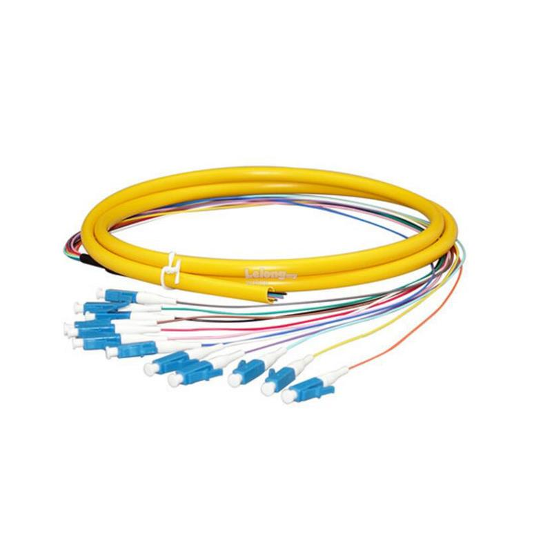 Single Mode LC 12 Core Pigtail 1.5 meter Fiber Cable (S341)