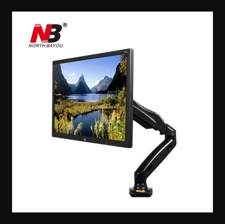Single Monitor Arm Mount Bracket 360 degree Adjustable- 17 to 27 inch