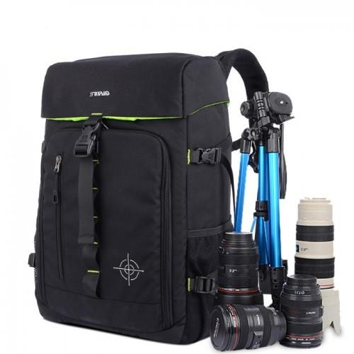 SINPAID SY-10 SLR Camera Backpack Photography Backpack - Black