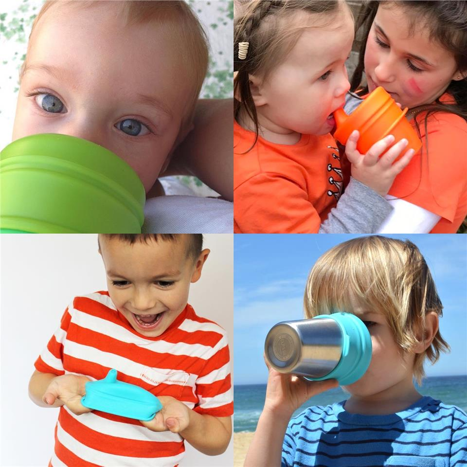 SipSnap TOT Universal Silicone Sippy Lid, Sandbox - Baby Training Cup