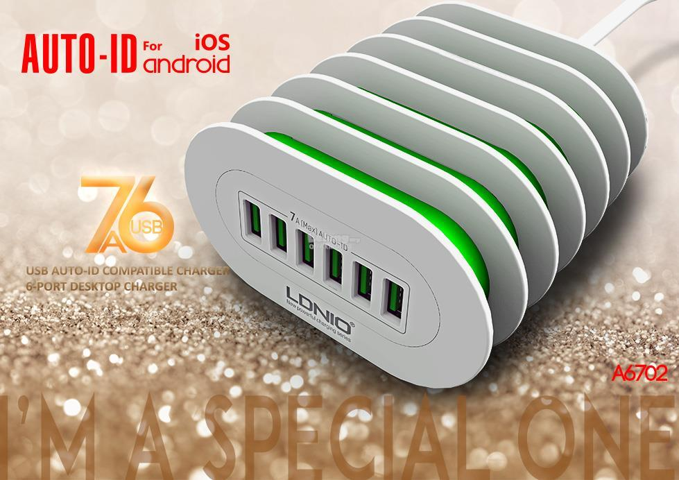 Six 6 USB ports Port smart Charger Stand Dock Cradle