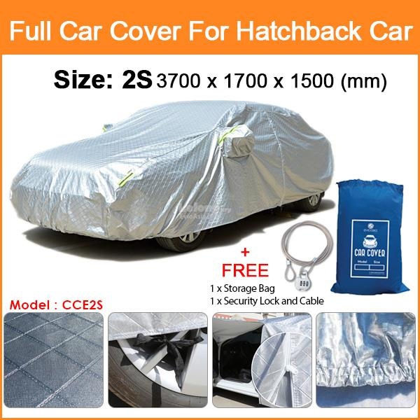 Size 2S Full Car Cover Rain Dust Sunlight Resistant Protection