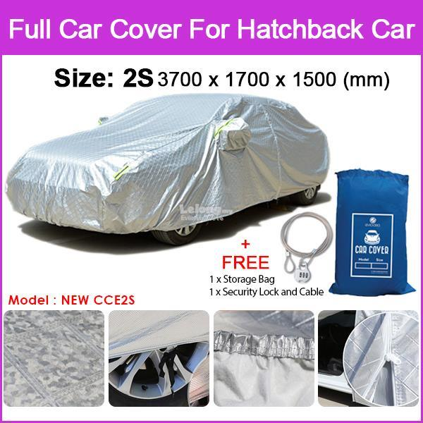 [Size 2S] Full Car Cover Sunlight, Water Resistant Protection