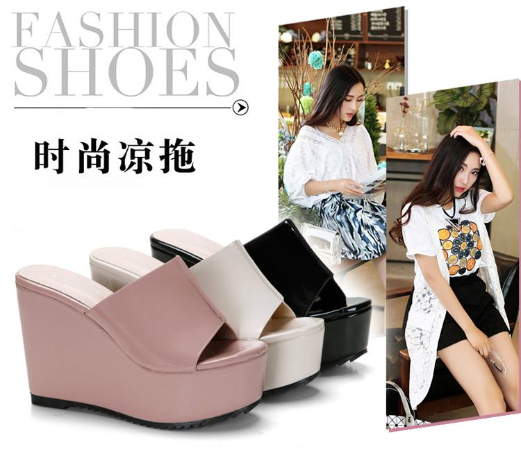 Size 34-39 Korea 11CM Thick Heel Shinning Wedges M15061