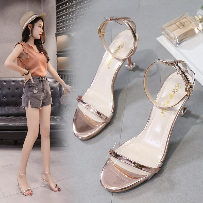 Size 34-39 Korea Low Heel 6.5CM Fashion Sandal PEQ602