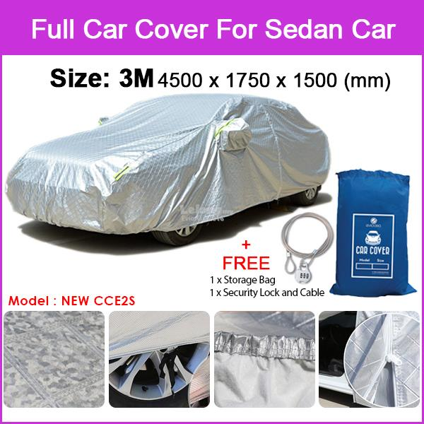 [Size 3M] Full Car Cover Sunlight, Water Resistant Protection