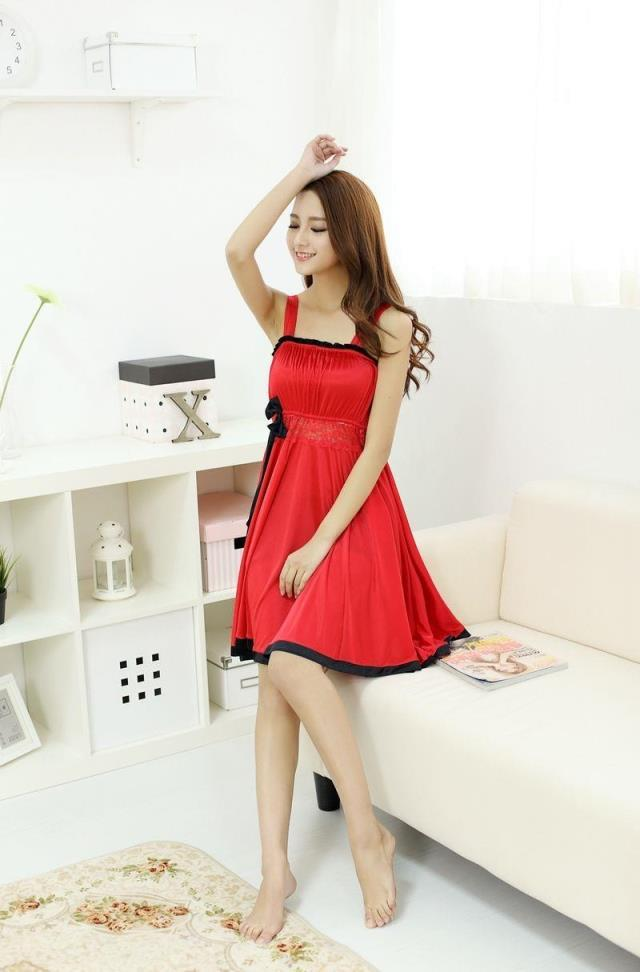 Size M-XL 2 Type Comfortable Ladies Sleep Dress