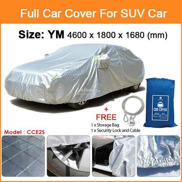 Size YM Full Car Cover Rain Dust Sunlight Resistant Protection