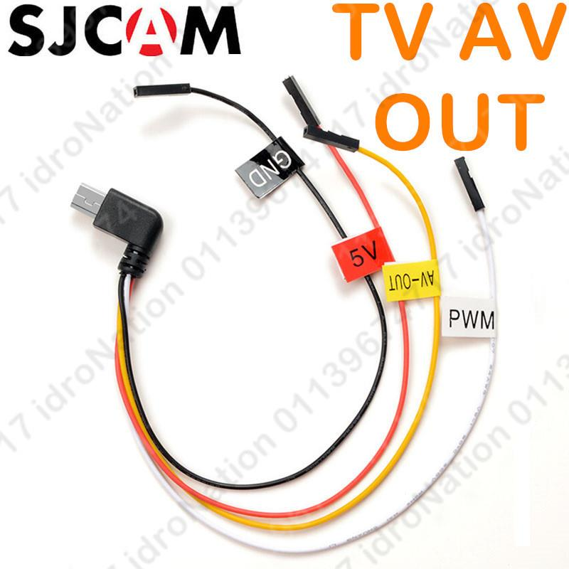 SJCAM SJ4000 SJ7000 SJ9000 USB TV AV Out Cable Sport Action Camera FPV