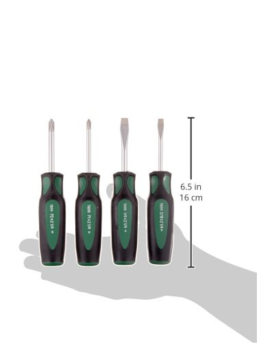 SK Hand Tool 86335 Cushion Grip Stubby Screwdriver Set, 4-Piece/ Shipping from