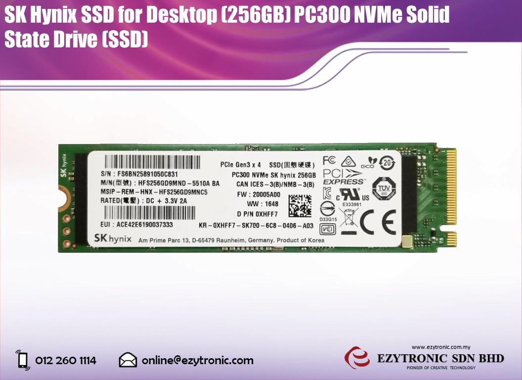 SK Hynix SSD for Desktop (256GB) Solid State Drive (SSD)