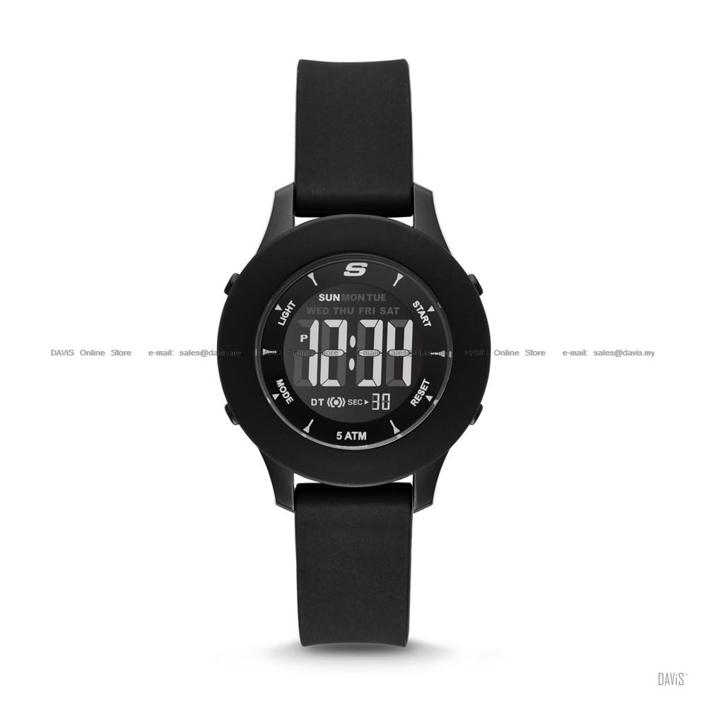 SKECHERS Watch SR6141 Women's Rosencrans Mini Digital Silicone Black