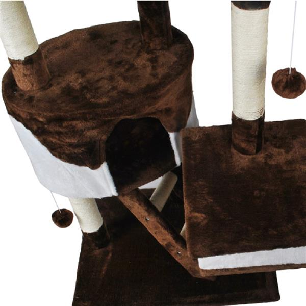 Skiidii Extra Large 240cm Comfy Cat Tree Play Bed Scratcher House