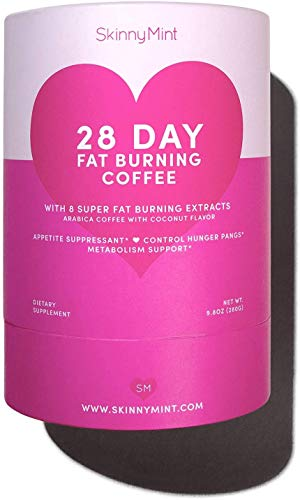 SkinnyMint Fat Burning Coffee. Keto Diet Drink. Appetite Suppressant for Weigh