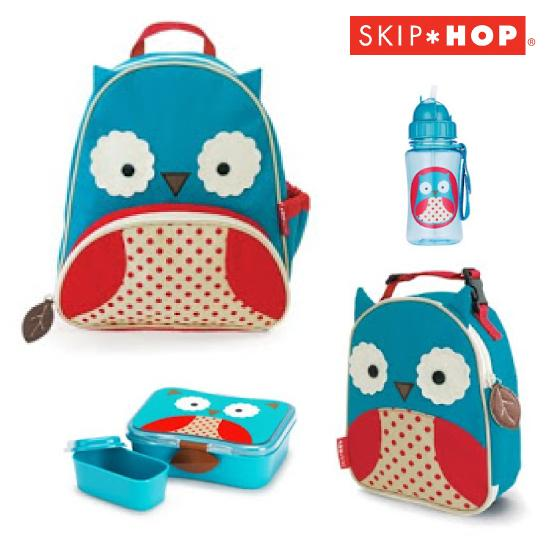 Skip Hop 100% Authentic Owl Back Pack/Lunchie/Lunchbox/Bottle