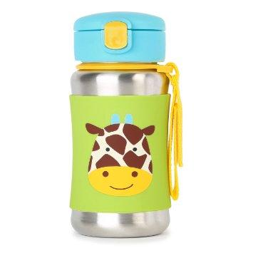SKIP HOP ZOO stainless steel kid straw bottle Giraffe (100% Authentic)