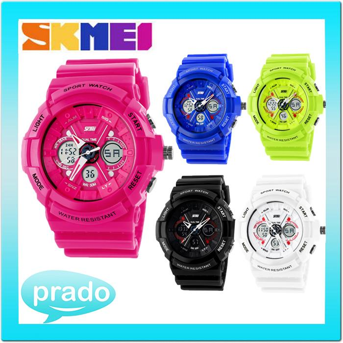 SKMEI 0966 Men Women Sport Watch Dual Time Water Resistant 50M Casio