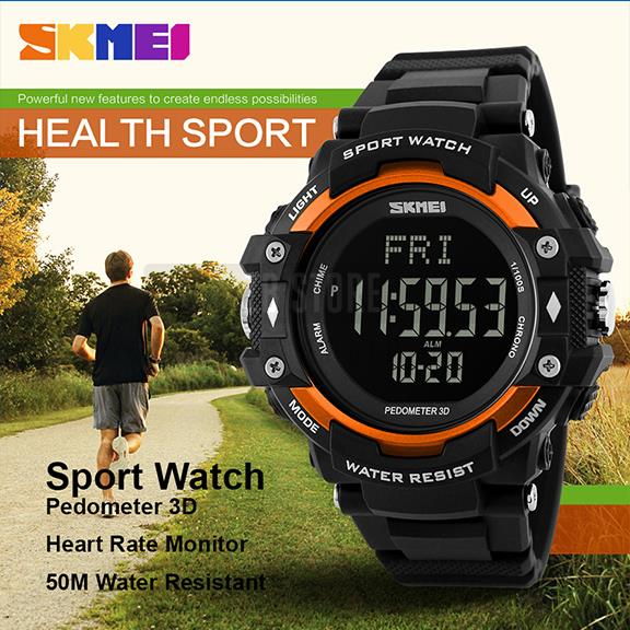 SKMEI 1180 Sport Watch - Heart Rate, Pedometer, Chronograph - New