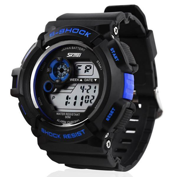 SKMEI S-SHOCK Men's Chronograph Analog Quartz Digital Outdoor Sports Watch