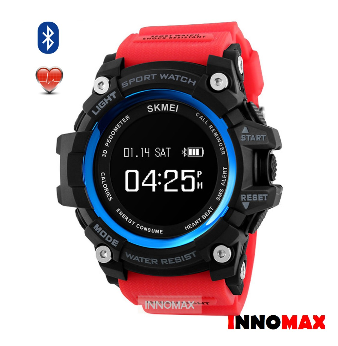 SKMEI Smart Sports Watch 1188 - Heart Rate Bluetooth Water Resistance. ‹ ›