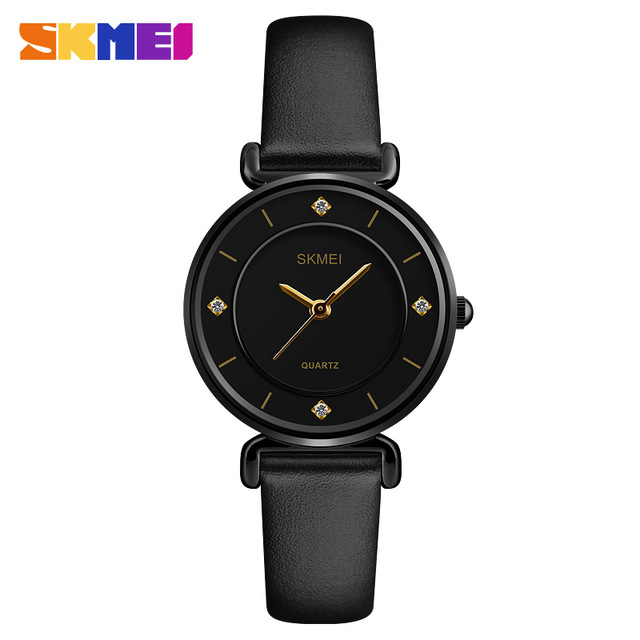 SKMEI Women Elegant Watch 1330 - Ladies Fashion Leather Strap